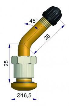 Вентиль латунный б/к   R-2123-7